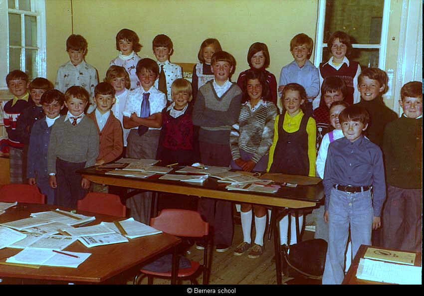 Bernera school pupils 1974
