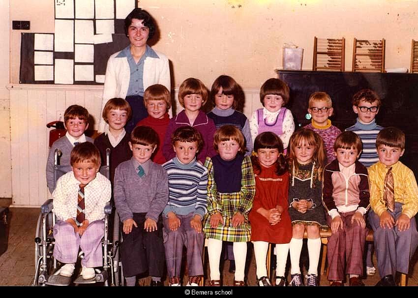 Bernera school pupils 1977