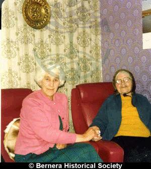 Barabel Macdonald & Ciorstag Smith holding hands