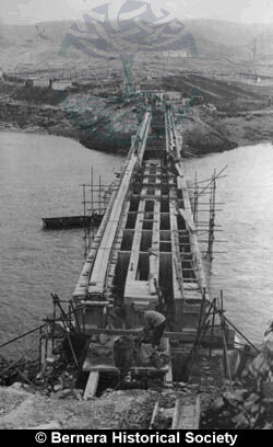 Bernera Bridge under construction from Cleitir