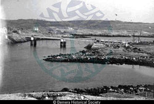 Bernera Bridge under construction from 2 Earshader