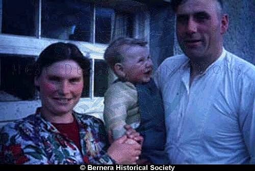 Catherine Mackay and Norman Macdonald with their son, 14 Kirkibost