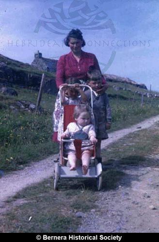 Catherine Macdonald, 14 Kirkibost, and her children
