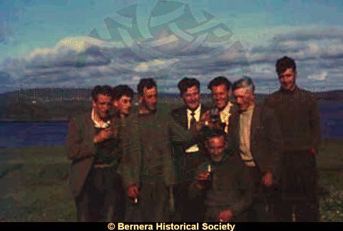 A group of eight Kirkibost men