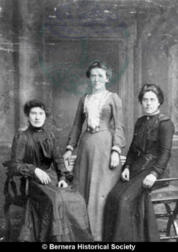 Macdonald sisters 25 Kirkibost and friend