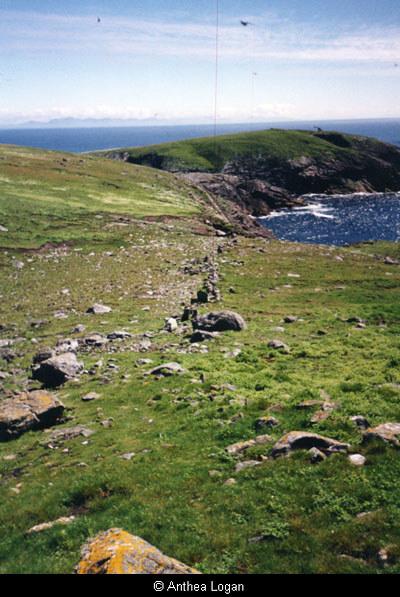 Flannan Isles, wall and headland
