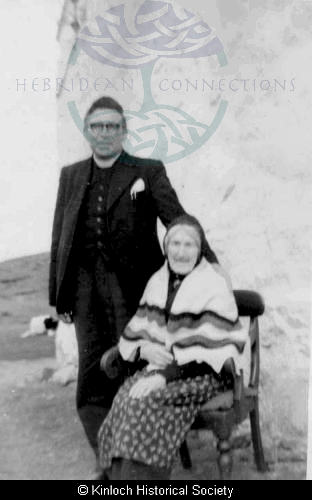 Mrs Ann Mackenzie, 11 Arivruach with her nephew Rev William Mackenzie, 3 Arivruach