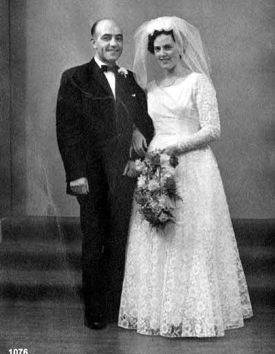 Norman Macphail, 7 Doune and bride Christina Mackay, 1 Kirvick
