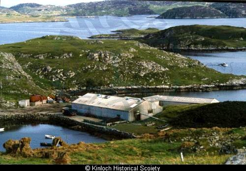 Former Alginate Industries factory at Eilean Tabhaigh, Keose