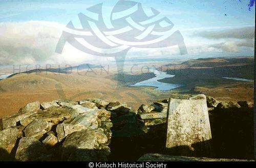 Cairn on top of the Clisham, Harris