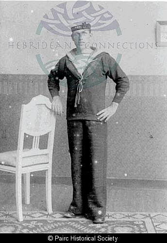 Murdo Macleod, 9 Cromore in Naval uniform
