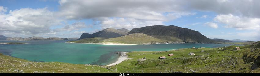Harris Panorama from Scarp