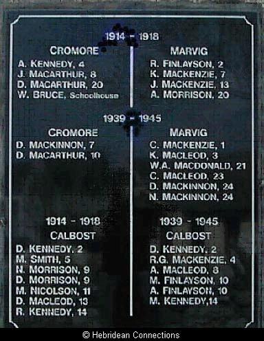 Plate Two Pairc War Memorial