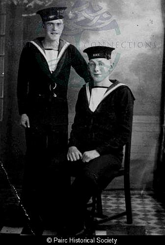 Two Lemreway men in Naval uniform