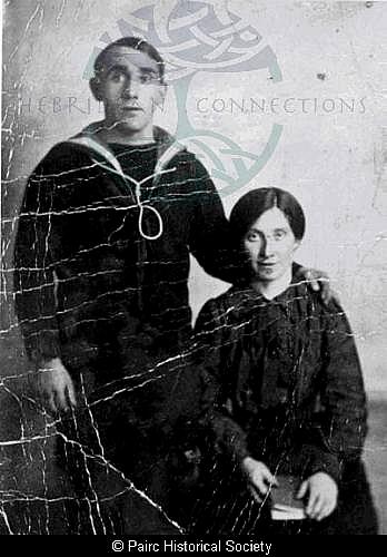 Angus Nicolson, 9 Orinsay with his wife