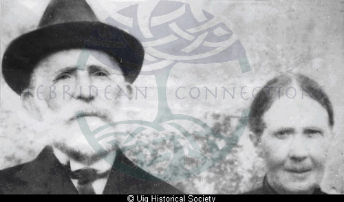 Angus Macritchie and his wife Catherine, 4 Aird, Uig