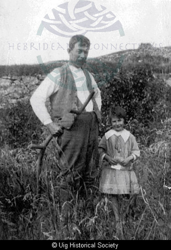 Alick MacKenzie with his daughter Dollie