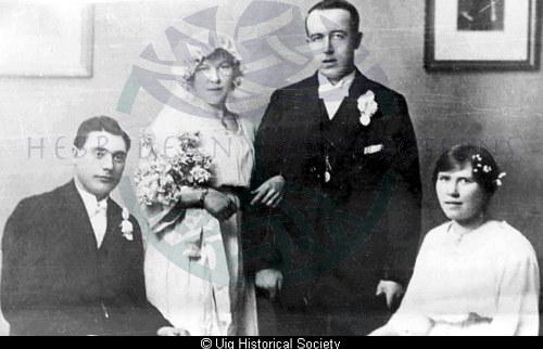 Donald and Hughina Matheson at their wedding