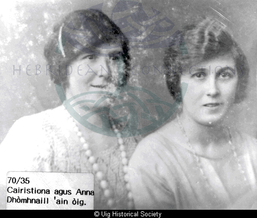 Cairstiona Macleod and her sister Annie