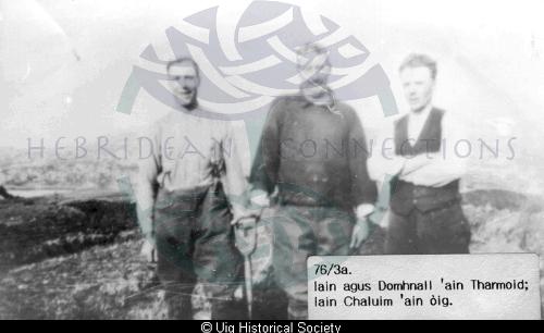 John Macdonald, his brother Donald and John MacLeod