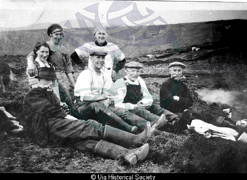 Margaret Macaulay and friends resting