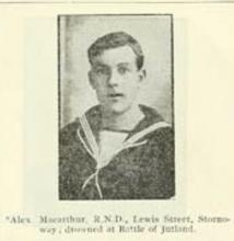 Alexander Macarthur portrait in Loyal Lewis: Roll of Honour 1914-1918 <a href='/image-details/120728'>(more info)</a>