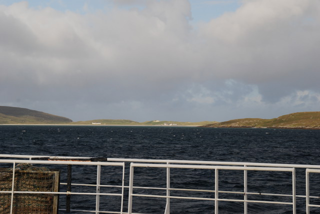 A view of Traigh Mhor from the Sound of Barra ferry